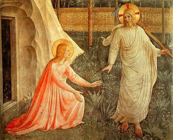 Noli me tangere (1441), de Beato Fra Angélico.