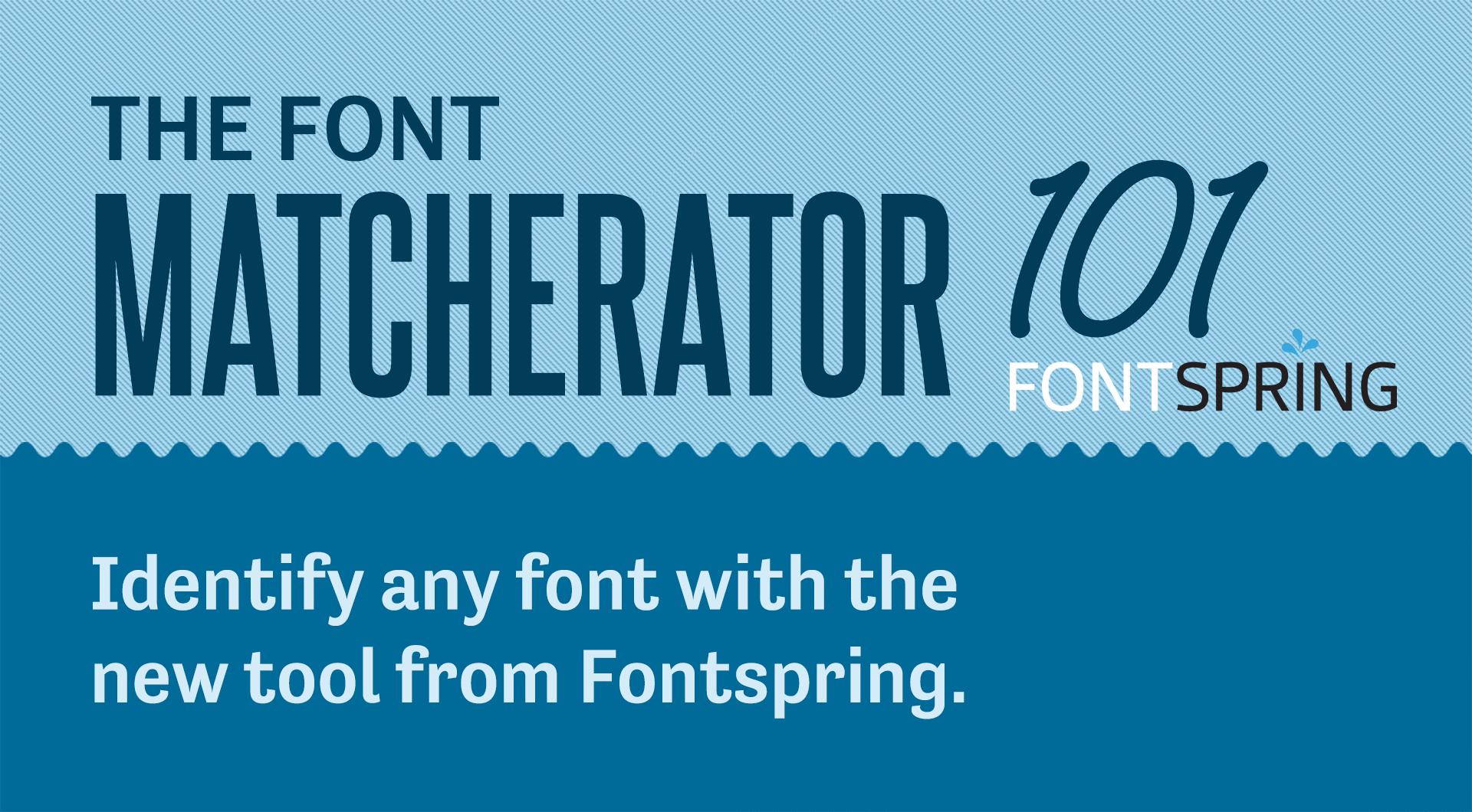 Font Matcherator, la herramienta que identifica tipografías