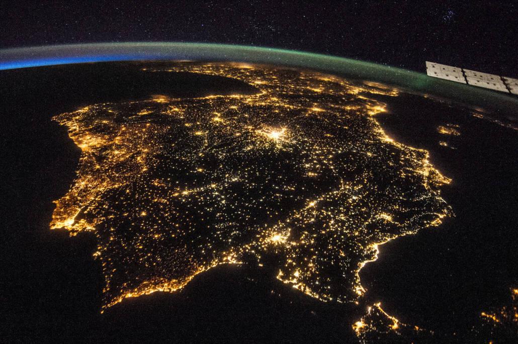 Península ibérica desde la ISS