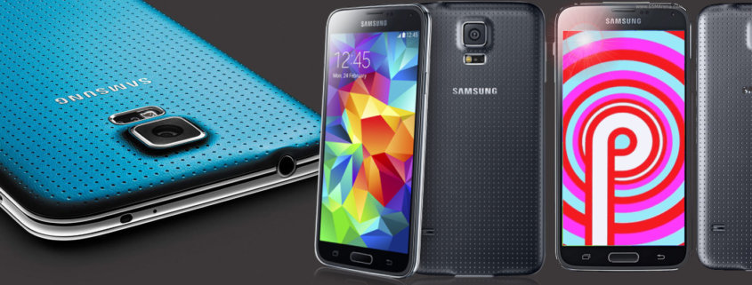 Samsung Galaxy S5 con Amdroid Pie 9